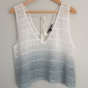 NWOT VS Ombre White & Blue Swimsuit Coverup Shirt